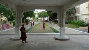 From front door of the Meditation Hall MSY