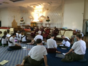 Group Dhamma Training Session for foreign yogis during their retreat at MSY.
