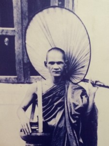Mahasi Sayadaw at a young monk about to enter his first meditation retreat.