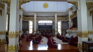 Monks Meditating - Mahasi Shrine Room at MSY