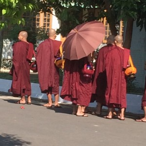 Monks at MSY, Yangon
